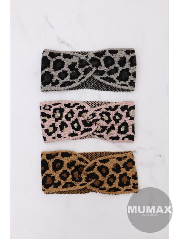 Dámska čelenka leopardí vzor