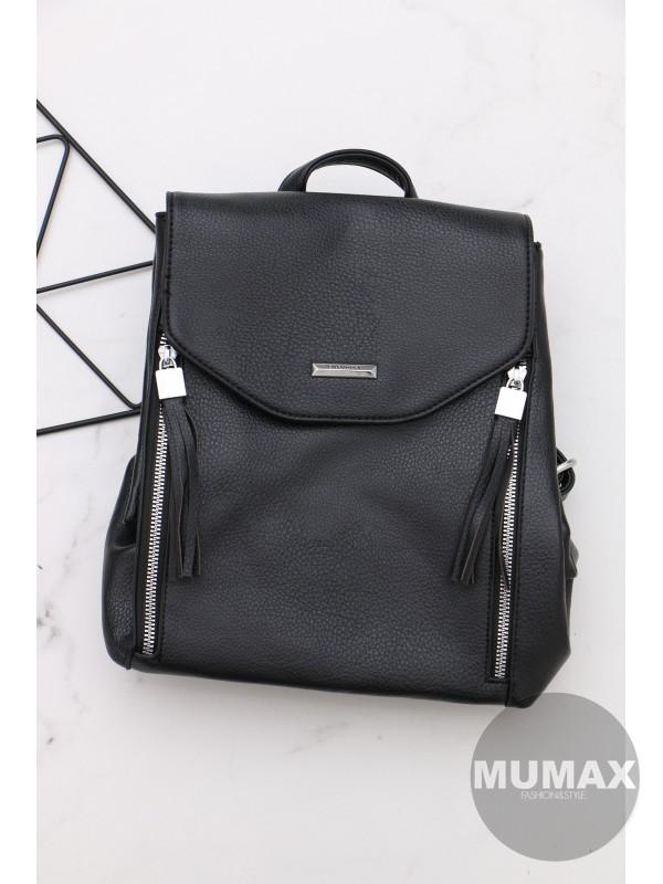 Trendy čierný ruksak