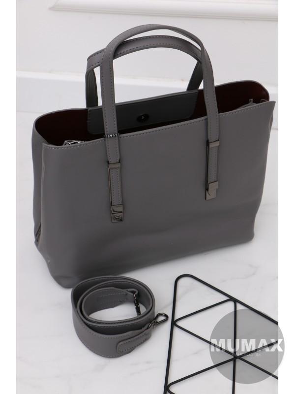 Trendy šedá kabelka