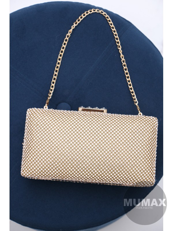 Zlatá elegantná kabelka