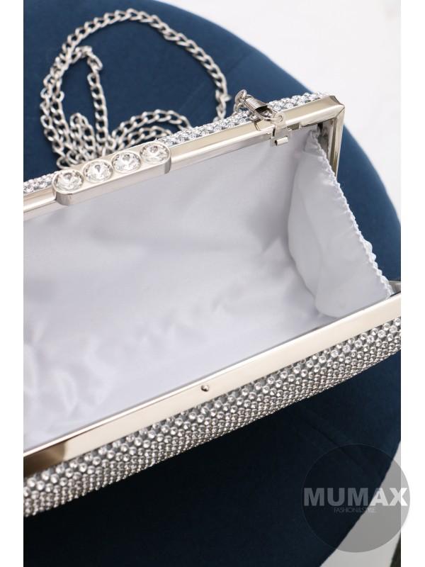 Strieborná elegantná kabelka