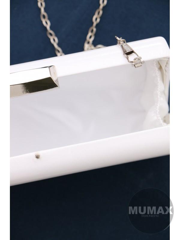 Biela elegantná kabelka
