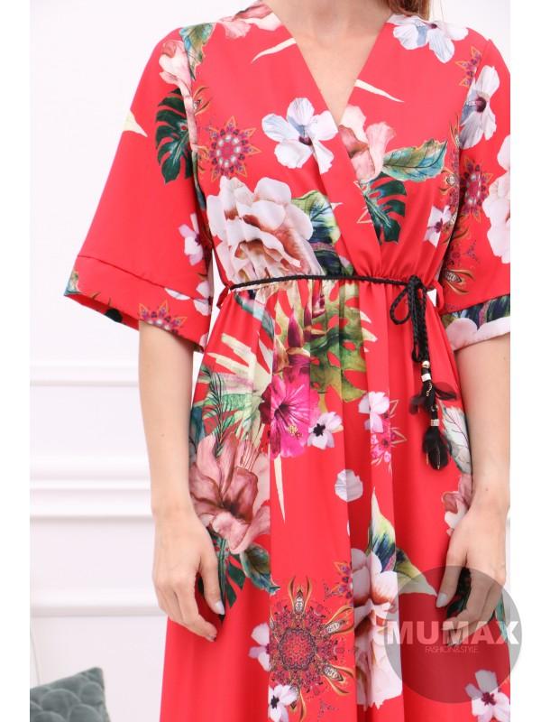 Červené kvetinkové šaty