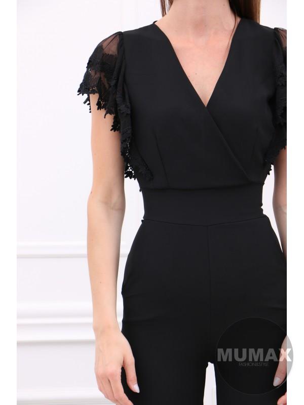 Čierný elegantný overál