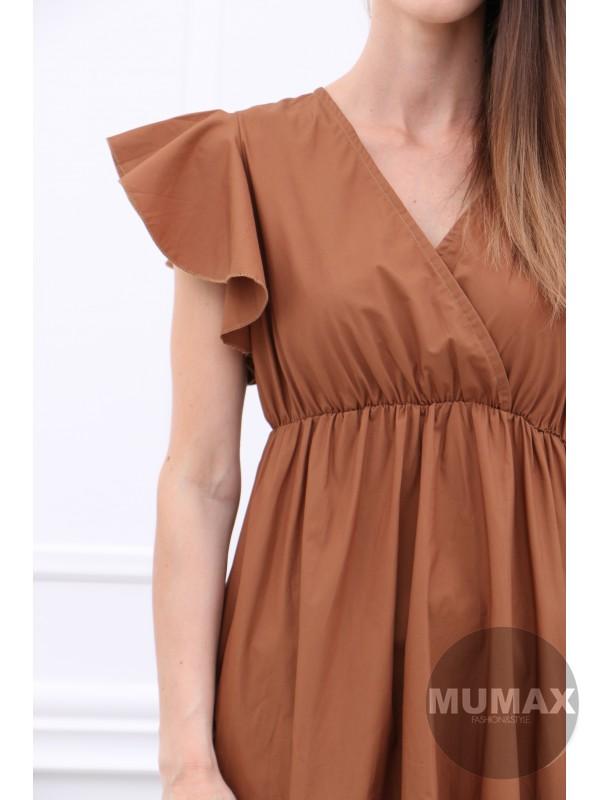 Dámske hnedé šaty
