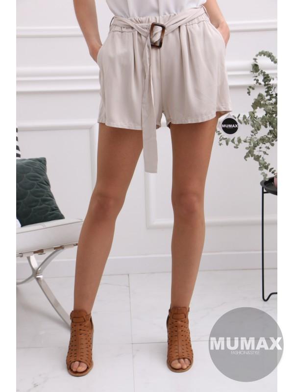 Krátke béžové nohavice