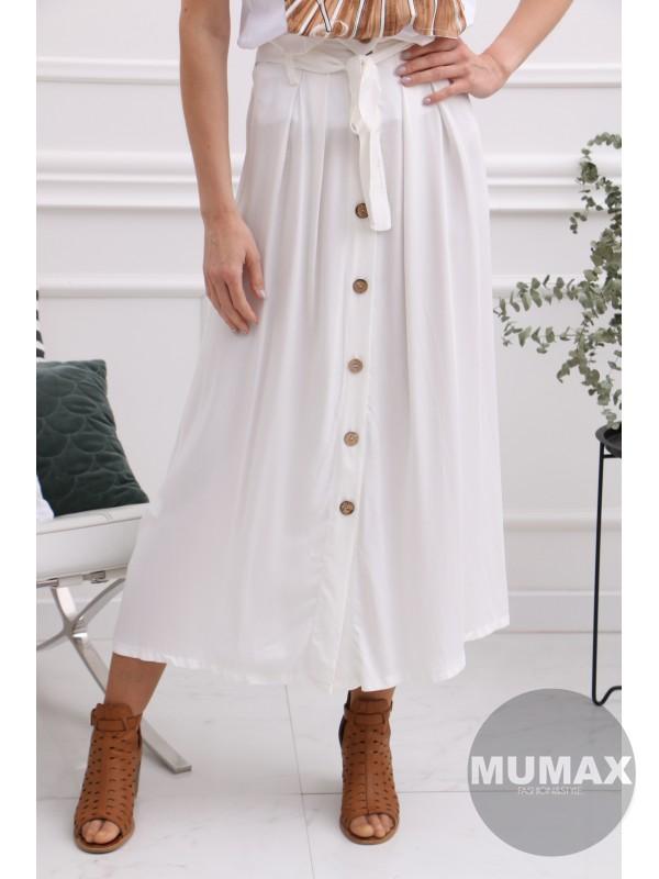 Dámska bielá sukňa