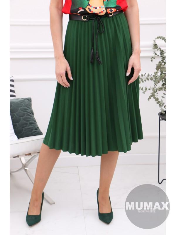 Plisovaná sukňa s opaskom