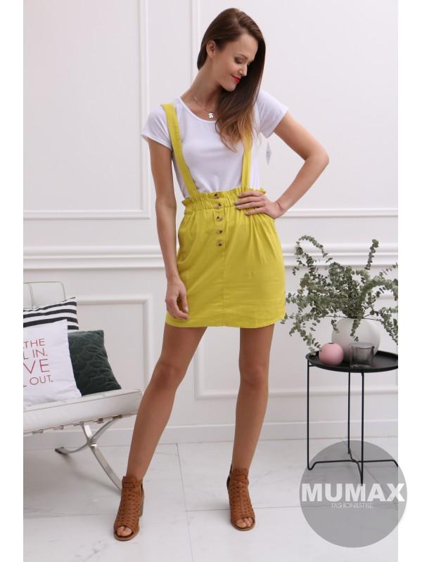 Žltý krátky komplet tričko a suknička