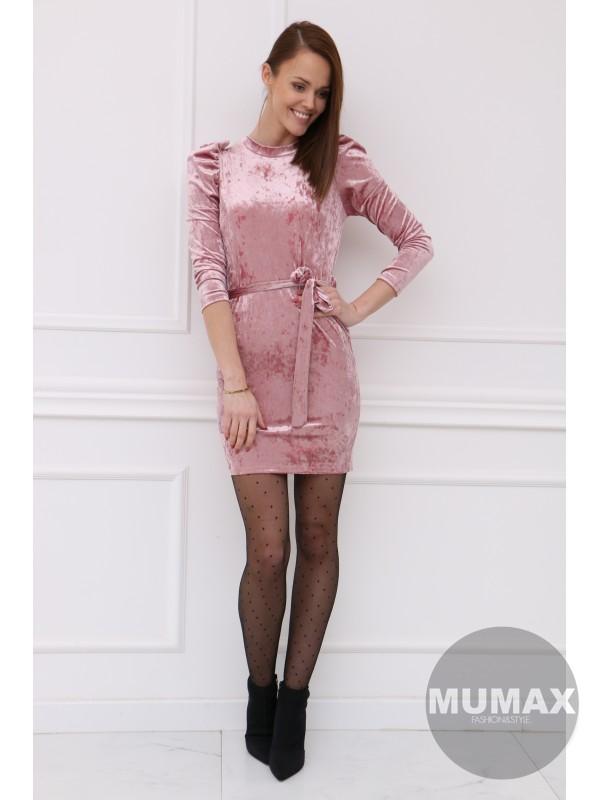 Ružové zamatové šaty