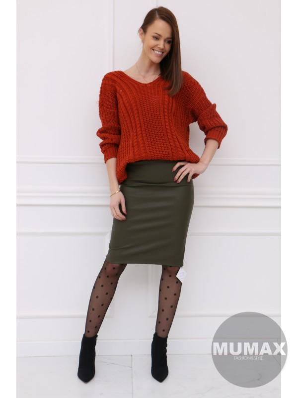 Oversize škoricový sveter