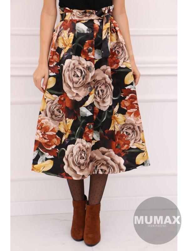 Dámska kvetinková sukňa