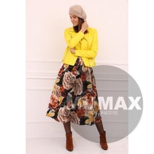 Dámska žltá koženková bunda