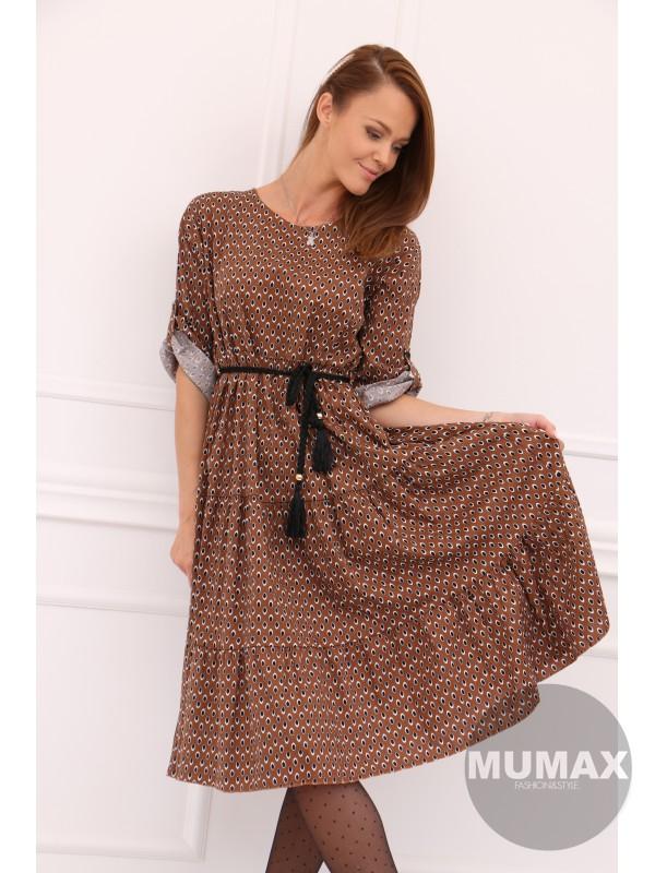 Dámske šaty vzor pávie očko