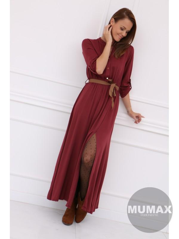 Dámske dlhé šaty bordové