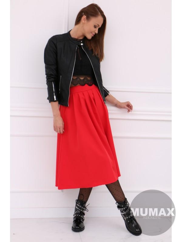 Dámska červená sukňa