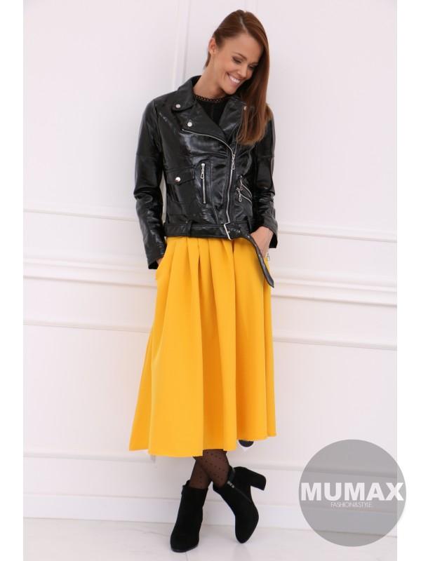 Dámska žltá sukňa