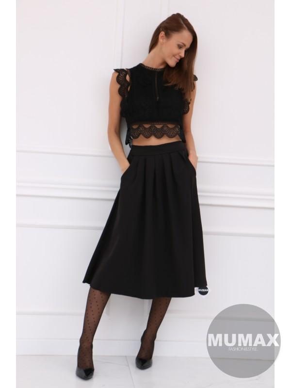 Dámska čierná sukňa