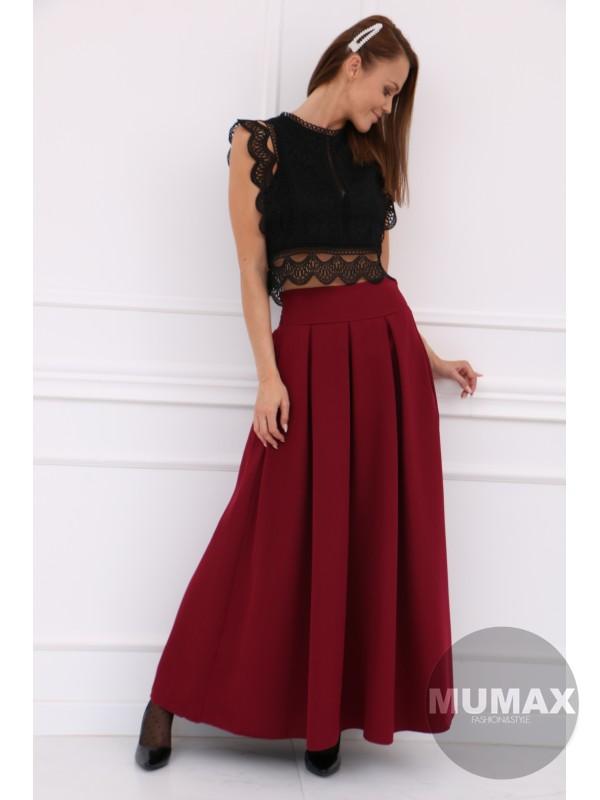 Bordová elegantná sukňa