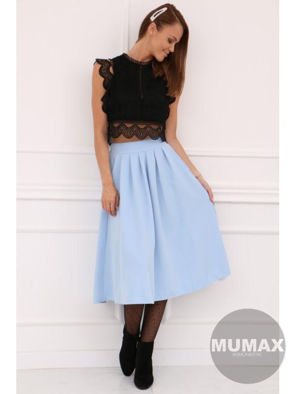 Dámska bledomodrá sukňa