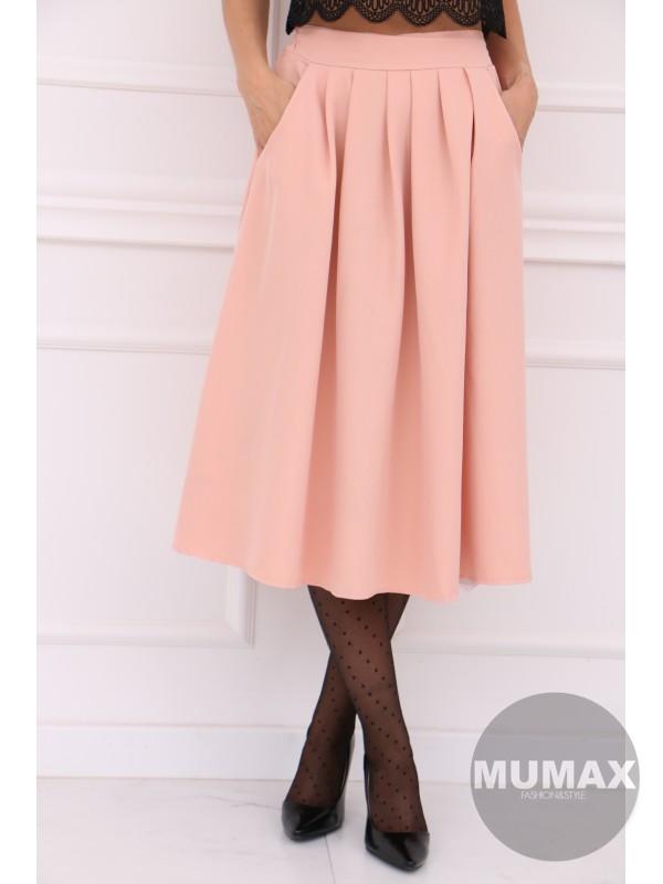 Dámska bledoružová sukňa