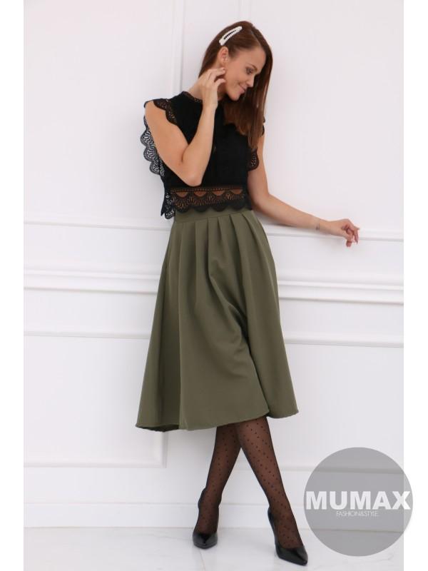 Dámska zelená sukňa