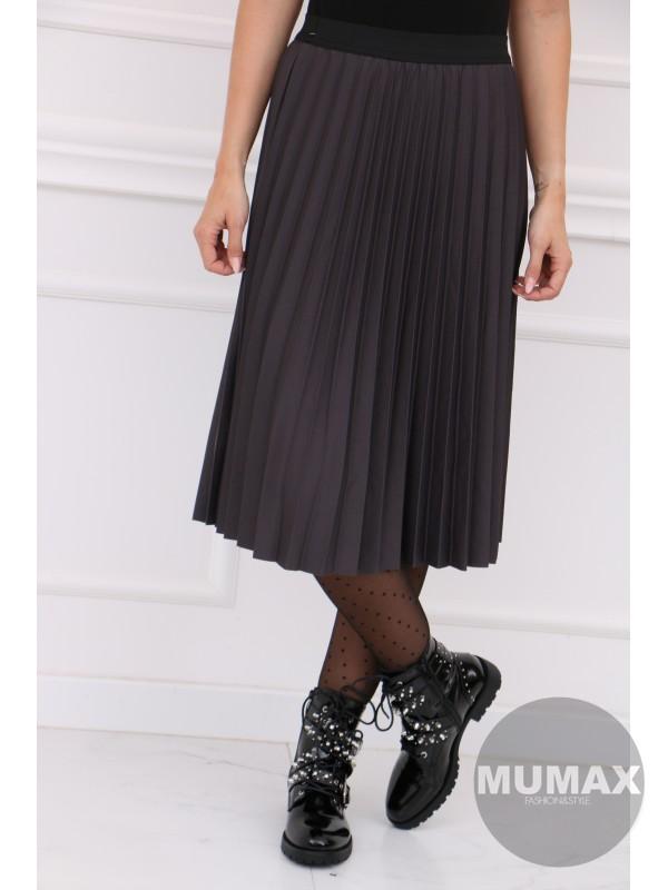 Tmavošedá plisovaná sukňa