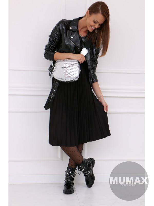 Čierná plisovaná sukňa