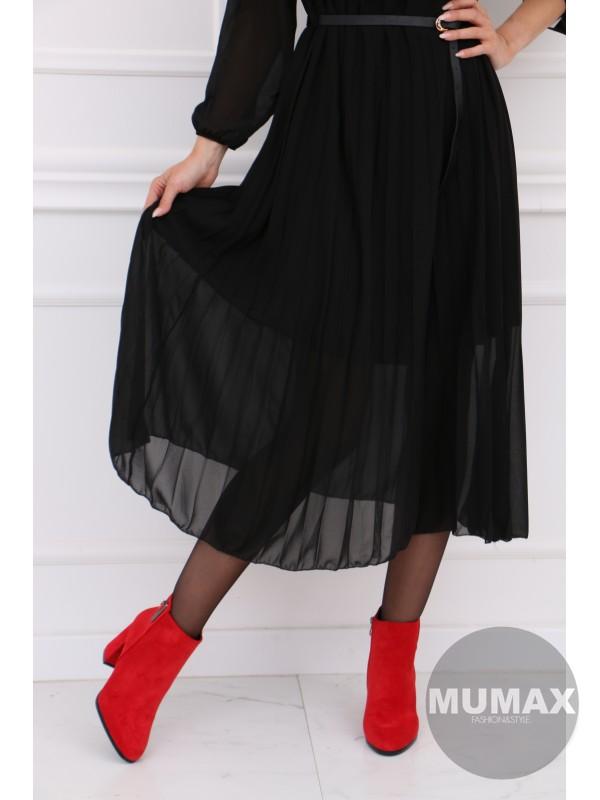 Čierné plisované šaty