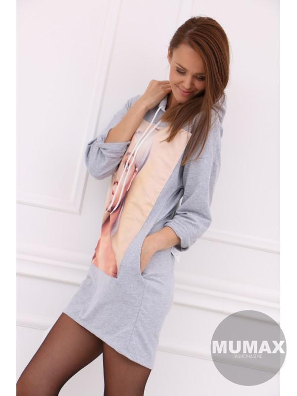 Dámske šaty s kapucňou