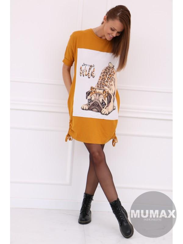 Dámske šaty/tunika s potlačou