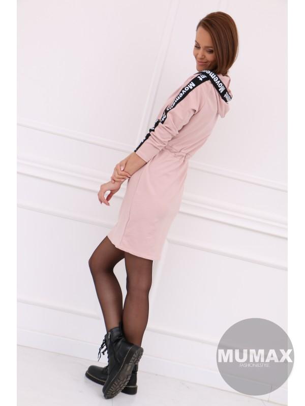 Dámske ružové mikino-šaty
