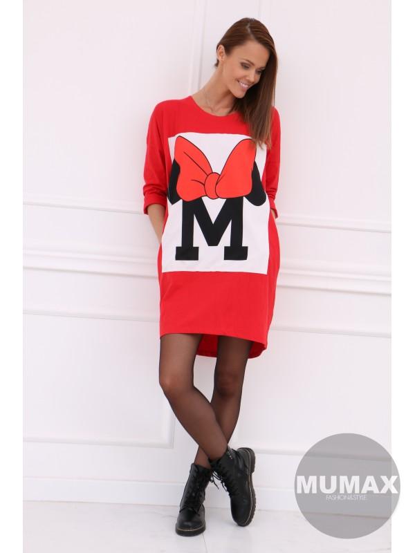 Dámske červené šaty/tunika