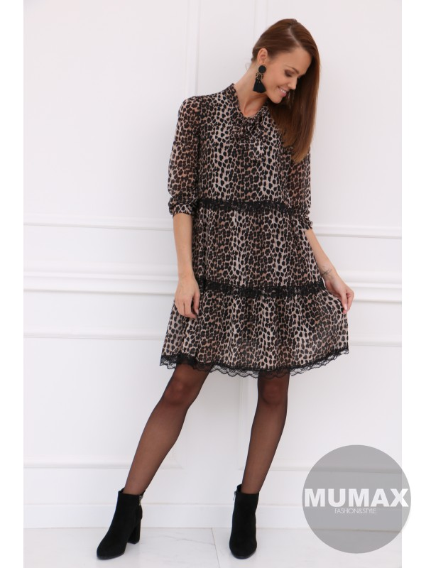 Dámske šaty leopard