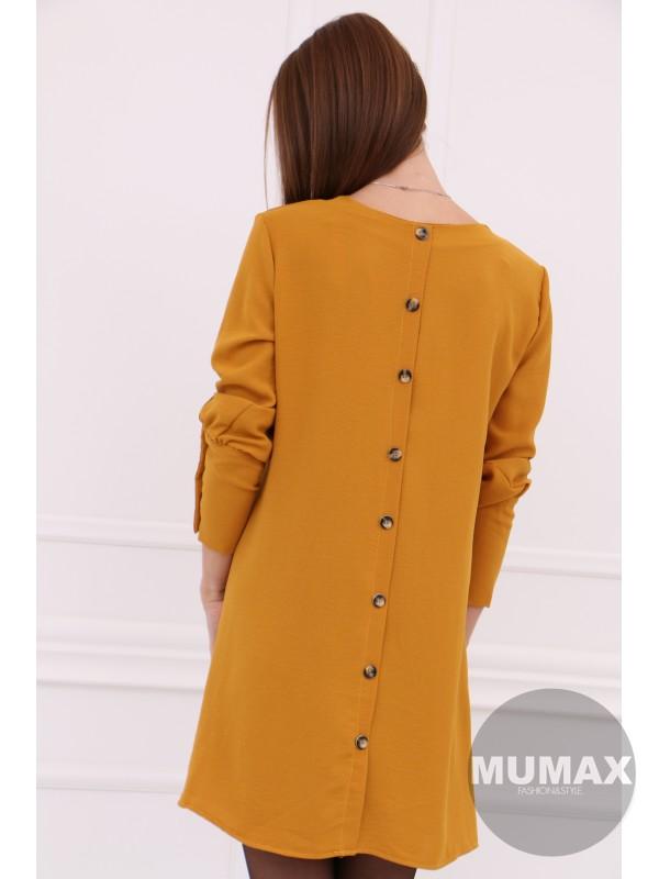 Dámske horčicové šaty