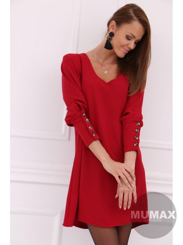Dámske bordové šaty