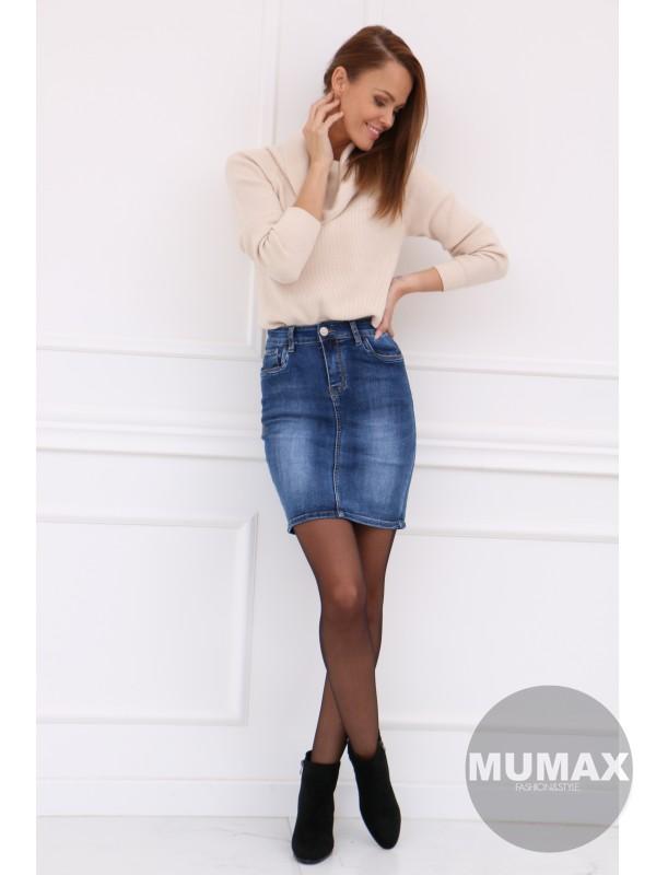 Trendy rifľová sukňa