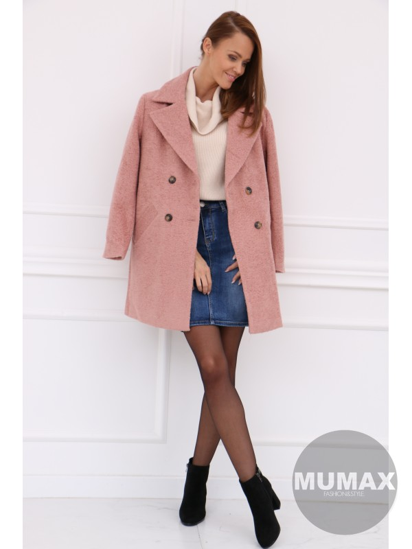 Dámsky ružový kabát