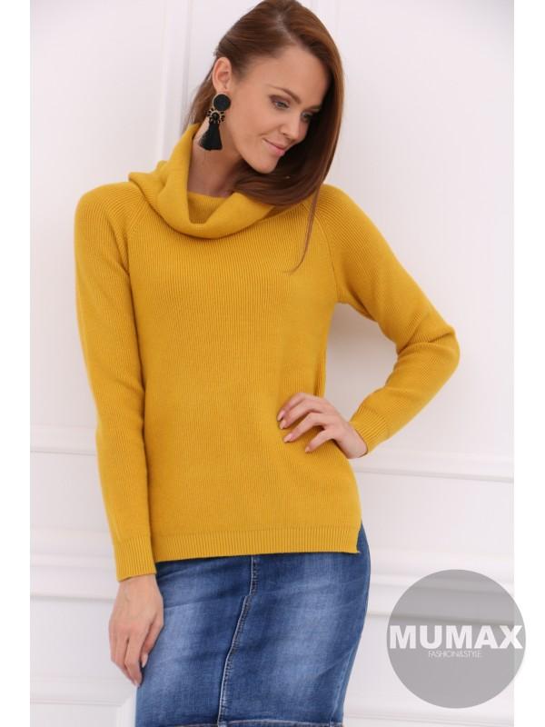 Dámsky horčicový sveter