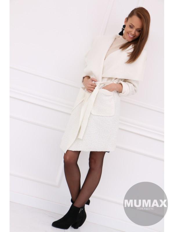 Dámsky biely kabát