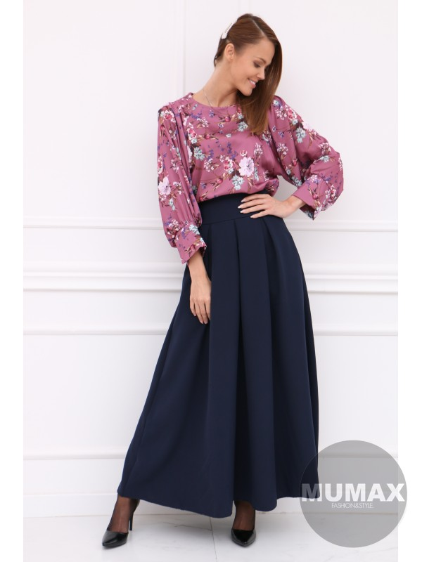 Dámska modrá elegentná sukňa