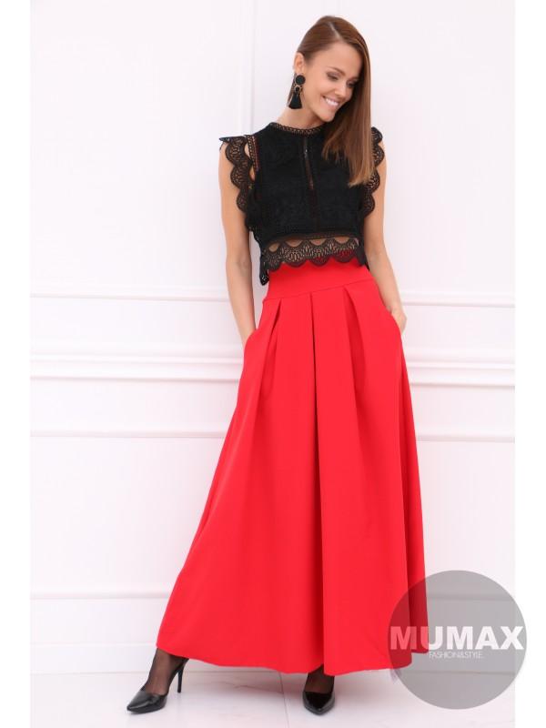 Dámska červená elegantná sukňa