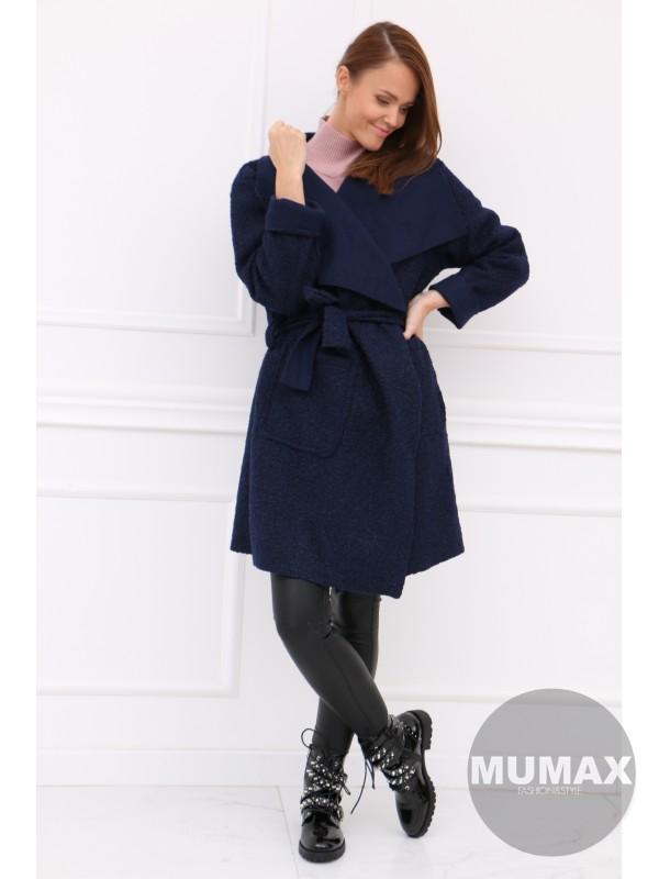 Dámsky modrý kabát