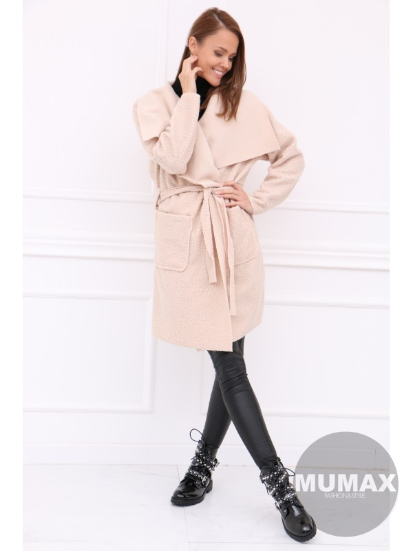 Dámsky béžovy kabát