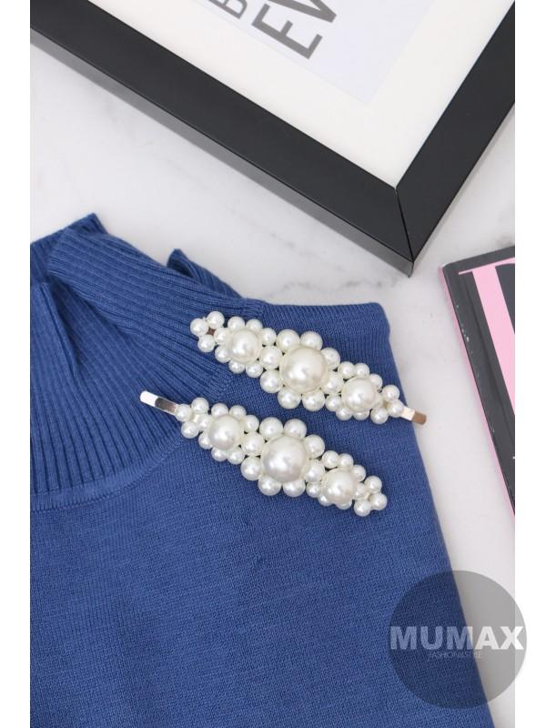 Strieborná ozdobná sponka s perličkami