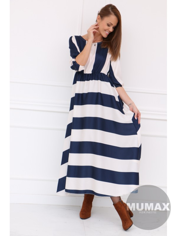 Dámske pruhované šaty