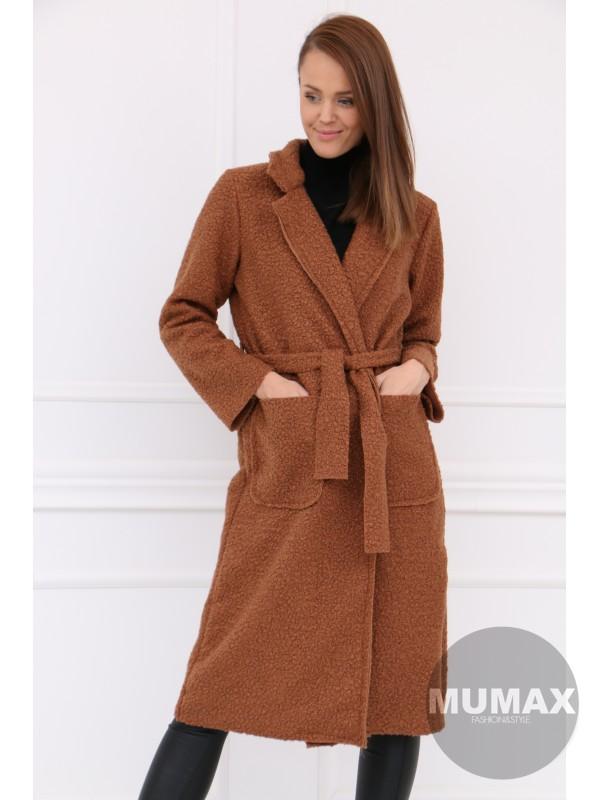 Hnedý dlhší kabát