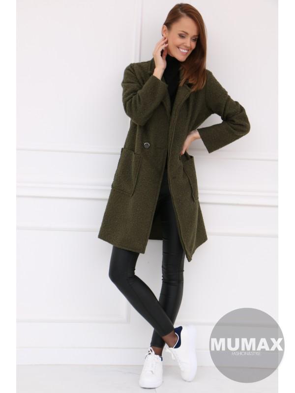 Dámsky zelený kabát