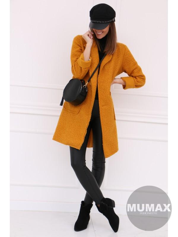 Dámsky žltý kabát
