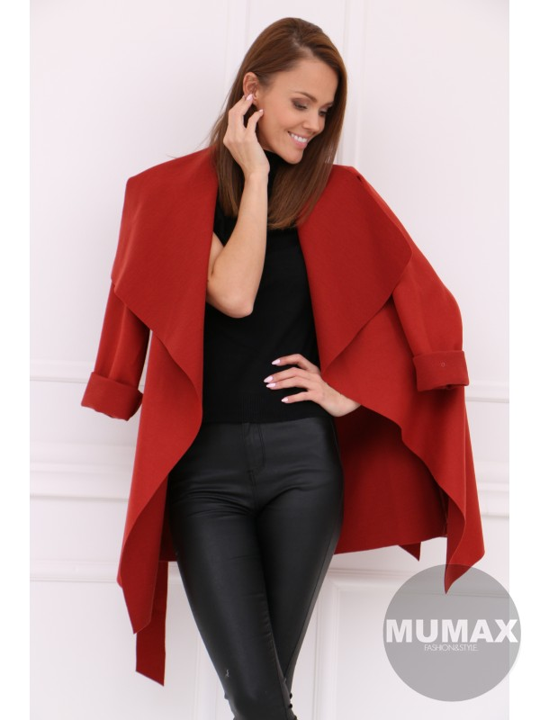 Dámsky škoricový kabát